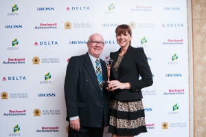 My Dad and I at the Asia-Pacific Stevie Awards